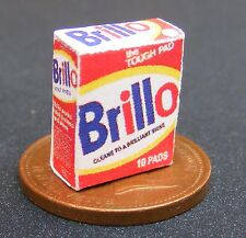 1:12 Scale Empty Brillo Cleaning Pad Box Dolls House Miniature Kitchen Accessory