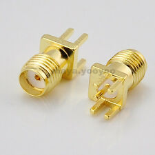 100 SMA female jack socket PCB Edge Mount Solder Connector Adapter 0.062''