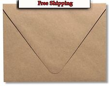 Euro Flap Kraft Grocery Bag Brown 70lb. Envelopes for Invitations Weddings Cards