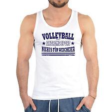 Sprüche Träger T-Shirt Volleyball - Volleyball Sportshirt Herren Volleyballshirt