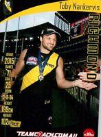 ✺Mint✺ 2019 RICHMOND TIGERS AFL Premiers Card TOBY NANKERVIS Teamcoach