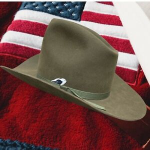 Vintage Stetson Beaver Fur (10x Quality) Cowboy Hat Owens Western Wear    Brown