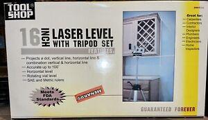 "Tool Shop 16"" Laser Level Set with Laser Level Tripod Spirit Level & Goggles NEW"