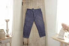 Vintage French moleskin pants timeworn work wear workwear chore blue peasant 43W