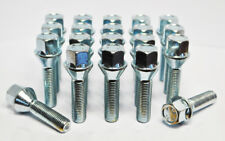 20 x M12 x 1.5, 42mm Thread, Tapered Wheel Bolts (Zinc)