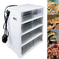 8 Grid Reptile Cage Pet Terrarium Feeding Tank Lizard Turtle Insect Breeding Box