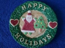 """1996 Fitz and Floyd Omnibus """" Happy Holidays"""" Canape Plate 7.75"""