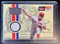 2001 Fleer Platinum Patch Time TOM SEAVER Jersey Patch Relic
