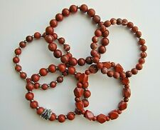 Genuine, Red Jasper Gemstones Bead Bracelets - Unisex.