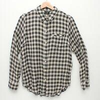 Lucky Brand Womens Plaid Back Overlay Shirt Medium Size Viscose