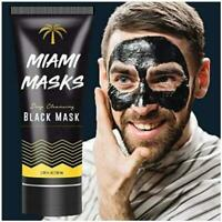 Bamboo Charcoal Peel Off Face Mask Blackhead Remover Facial Mask by Miami Masks