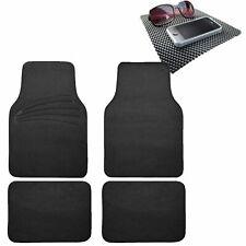 4pcs Full Carpet Floor Mats Universal Fit for Car SUV Black w/ Dash Mat