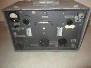 Wehrmacht Funkgerät Receiver Transceiver Funktechnik Empfänger Frequenzgenerator