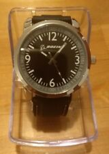 """Boeing """"Time to Go"""" Watch - New In Box- Black Rubber Band"""