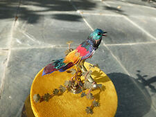 VINTAGE FRENCH BONTEMS SINGING BIRD CAGE BIRD MECHANICAL AUTOMATON (Watch Video)