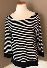 J.crew L Sailor Boatneck Tee Navy And White Stripe
