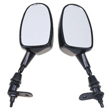Pair 6mm ABS Rearview Rear Side View Mirror Fit For Harley Motorcycle Dirtbike