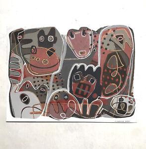 Isabelle Lanchon EX5 art brut, singulier, outsider, peinture, dessin