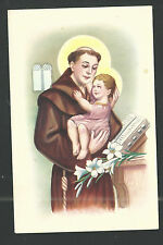 Postal antigua San Antonio de Padua andachtsbild santino holy card santini