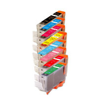 8 PK Ink Cartridge with Red Green + Chip for Canon Series Cli-8 Pro9000 Mark II