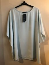 Curve Size 32 Top, M&S, Soft & Drapey, Short Sleeved, Aqua BNWT