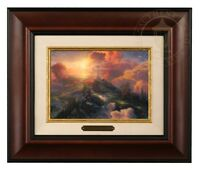Thomas Kinkade The Cross Brushwork (Burl Frame)