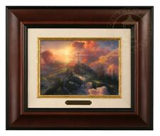 Thomas Kinkade The Cross 5 x 7 Framed Brushwork (Burl Frame)