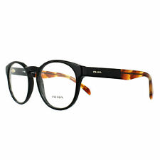Prada Eyeglasses PR16TV 1AB1O1 50 Black Frame [50-18-140]