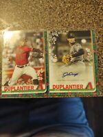 Jon duplantier auto and Base rookie 2 card lot