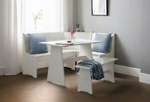 Newport Corner Dining Set high seat backs and a bench for 6