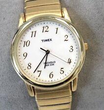 TIMEX Indigo Gold Toned Expanding Band Quartz Wristwatch Spares/Repairs - C22