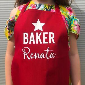 Childrens personalised apron, star baker apron, kids baking apron, gbbo apron