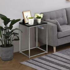 New Coffee Tray Side Sofa Table Couch Room Console Stand End TV Lap Snack Black