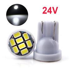 20Pcs DC 24V T10 1206 8 SMD Led Lights 194 168 501 W5W Wedge Car Bulbs White