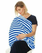 Nursing Cover Infinity Scarf Car Seat Cover Carseat Canopy blue white stripes
