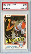 1981 O-PEE-CHEE HOCKEY #232 JERE GILLIS PSA 9 MINT NQ ONE OF 12 WITH 1 HIGHER