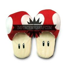 SUPER MARIO BROS. CIABATTE FUNGO ROSSO pantofole cosplay toad slippers mushroom