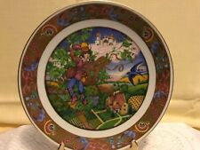 The Golden Classic Plate Collection Jack & the Beanstalk Carol Lawson 22K