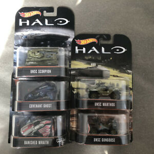 Hot Wheels Halo 1/64 Set of 5 UNSC Warthog Covenant Ghost *New Sealed* Cars Toy