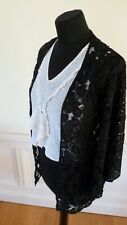 Vintage antique black lace jacket with unusual sleeve shapes
