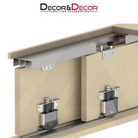 Sliding Wardrobe Door Track System Kit 75kg Per Door 1800mm Rail For 2 Doors