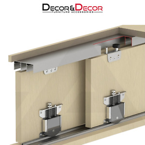 Sliding Wardrobe Door Gear Kit 75kg Per Door Up to 3m Track Rail Soft Close