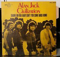 Rare SP Languette - ALAN JACK CIVILIZATION - Shame On You - Byg 1969 Blues Rock