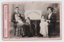 Two ODD Men Dolls Nurses Gay Appeal Cora Hastings Enfield IL 1880s Cabinet Photo