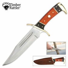 Timber Rattler 12 Inch Dark Pakka Bowie Knife NEW TR77