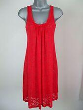 Ex M&S Beach Dress Scoop Neck Flare Shift Summer Jersey Drape Kaftan Size 8 10