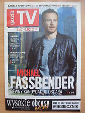 MICHAEL FASSBENDER on front cover GAZETA TV, in.The Big Bang Theory