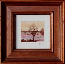 Moderne Kunst Yana, sign., Landschaft, Aquarell Naive Malerei  56-781  xxx