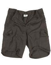 Pantalone Corto Bermuda Militare 100%25 Cotone Moleskin Prelavato Miltec