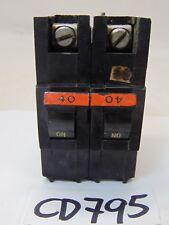 USED FPE FEDERAL PACIFIC BREAKER 40 AMP 2 POLE STAB LOK